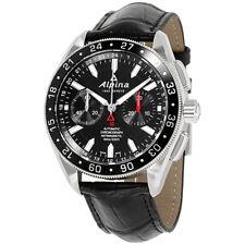 Alpina Alpiner Black Dial Leather Strap Men's Watch AL860B5AQ6