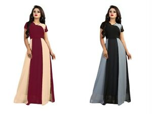 Fancy Indian Georgette Ethnic Designer For Women Casual Ready Made Gown KZPU1-7