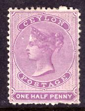 CEYLON #45 ½p LILAC, 1863 QV Wmk.1a, VF, UNUSED