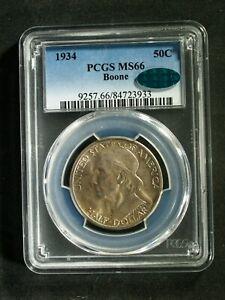 1934 U.S. Daniel Boone Commemorative SILVER Half $ - MS66 (PCGS, CAC) stk#3933