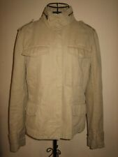 """A LOVELY WOMENS HOBBS ARMY STYLE PALE BROWN JACKET SIZE 10 PIT-PIT APPROX 17-19"""""""