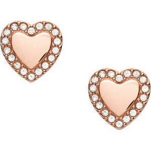 Orecchini cuore Fossil donna JF03362791 acciaio con cristalli