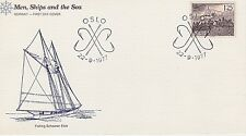 NORWAY 1977 FIRST DAY COVER - FISHERMEN & BOATS