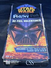 Star Wars Valentines 32 Flashy Foil- Box Damaged