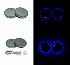 2X Cup Holder Bottom Mat Pad Led Light with Usb Rechargeable Car Interior Trim