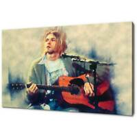 KURT COBAIN PAINTING CANVAS PICTURE PRINT WALL ART FREE FAST DELIVERY