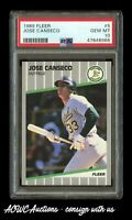 1989 Fleer #5 Jose Canseco - PSA GEM MINT 10