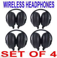4 NEW Chrysler Town Country Wireless DVD Car Headphones