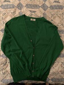 Edifice Cardigan Men's Emerald Green Cotton Cardigan (L)