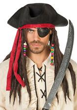 filziger JACKY Gorro Pirata negras NUEVA - CARNAVAL Sombrero Gorro kopfbedeckun