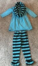 Sparkle In Pink Blue Black Stripe Boutique Outfit 1-2T Infinity Scarf