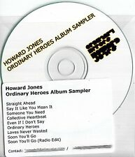 HOWARD JONES Ordinary Heroes Album Sampler 2009 UK 9-track promo test CD