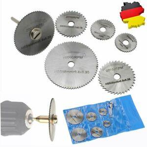 7 HSS Trennscheiben Kreissägeblätter Dorn Cutoff Cutter Für Drehwerkzeug Dremel