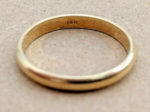 Classic Vintage Solid 14k Gold Wedding Band | Size 9.5 Ring | 4mm Width 3.11g