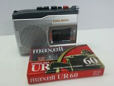 Sony TCM-150 Handheld Clear Voice Cassette  Recorder + Maxell 60 Min Blank Tape.