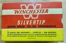 Vintage Winchester Silvertip Super Super 30-06 Springfield Empty Ammo Box