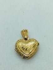14k Solid Gold Medium Heart Locket Pendant