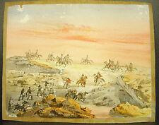 Louis LEBRETON Les colonies Aquarelle orientaliste orientalist circa 1850 27 cm