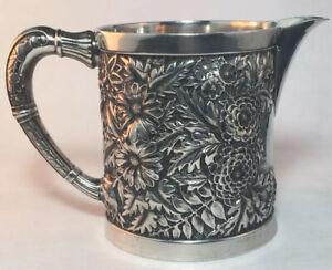 J.E. Caldwell Repousse Sterling Silver Creamer Mug / Cup 5.6 Toz No Mono