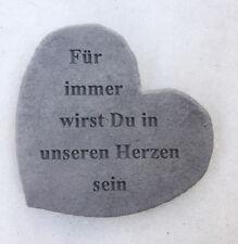 Gedenkstein für immer Wirst du In Unseren Herzen Sein Steinguss Grabschmuck