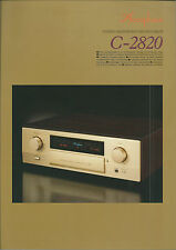 Accuphase c-2820 Catalogo Prospetto Catalogue datasheet brochure