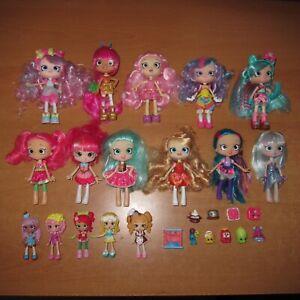 SHOPKINS - Bulk lot Shoppies Happy Places Lil' Shoppies Dolls Toy Figures Bundle