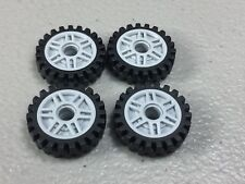 New Lego Lbg Wheels 18mm x 8mm Lot of 4 Authentic 23x7 Tires Offset Tread