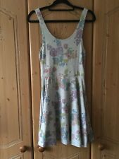 Topshop hydrangea Floral Sleeveless Skater Dress Size 8