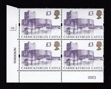 GB QE2 Castle 1995 £3 SG1613a (UK13) plate 1D block 4 UM MNH **