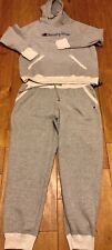 Womens Champion Sweat Suit Size Xl Gray Hoodie Joggers NWT Track Jogging