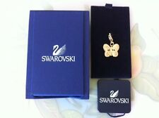 Authentic Swarovski GoldTone Petite Yellow Enamel Pave Crystal Butterfly Charm