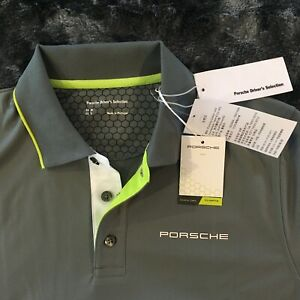 PORSCHE DESIGN SELECT MAGAZINE NOS 2015 MEN'S SPORT POLO IN GREY EURO M /USA S