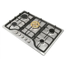"Brand New,30""Stainless Steel Built-in Stove Ng/Lpg Gas Hob 5 Burners Cooktop"