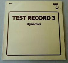*1st Sound* Opus 3- Sweden: Test Record 3 (Dynamics) - Nm