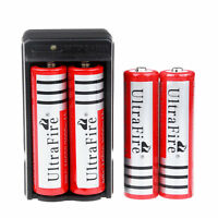4PC UltraFire 3000mAh 18650 Battery 3.7v Li-ion Rechargeable Battery + Charger