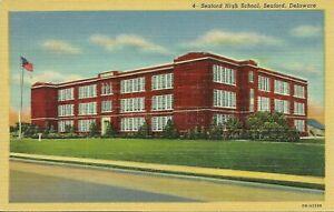 Seaford High School Seaford Sussex County Delaware 1930s Postcard