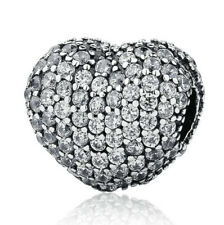 European 925 Silver CZ Charm Beads Pendant Fit sterling Bracelet Necklace A#836