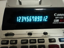Canon MP11DX Printing Desktop Calculator Two-Color TESTED