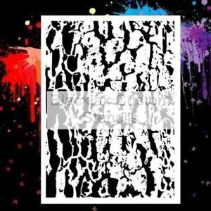 Camo Oak Bark 02 Airbrush Stencil,Camouflage