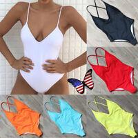 New Women One Piece Bathing Monokini Push Up Padded Bikini Swimsuit Swimwear