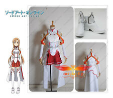 Sword Art Online Asuna Yuuki Cosplay Costume Clothes And Shoes Full Set Any Size