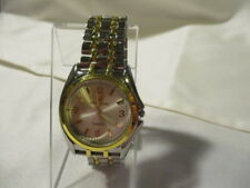 "ORLANDO Gold & Silver Tone Unisex Watch Y:295 New Battery! 9"" Long Face is 1 1/2"