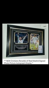 NEW Cristiano Ronaldo of Real Madrid Signed Photo Picture Autograph Display