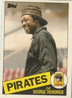 FREE SHIPPING-MINT-1985 Topps Traded #51 George Hendrick Pirates +BONUS CARDS