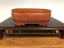 Handmade Shohin Size Bonsai Tree Pot By Deiju 4 3/4� Carved Writing