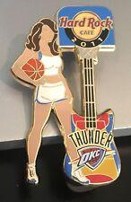 HARD ROCK CAFE ONLINE OKLAHOMA CITY THUNDER 2011 NBA CHEER GIRL GUITAR PIN