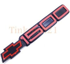88-98 Chevrolet Red Black 1500 Door Emblem Nameplate Tahoe Blazer Suburban 454ss