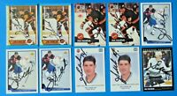 LOT OF 10 JIM SANDLAK SIGNED HOCKEY CARDS ~ O-PEE-CHEE PINNACLE ~ 100% GUARANTEE