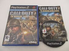 CALL OF DUTY 3 EN MARCHE VERS PARIS - SONY PLAYSTATION 2 PS2 PAL FR COMPLET