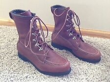 Vintage Field and Stream NOS Men's Brown Leather Birding Hunting Boots Size 9 EE
